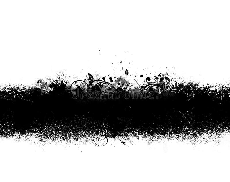 svart grunge för baner royaltyfri illustrationer