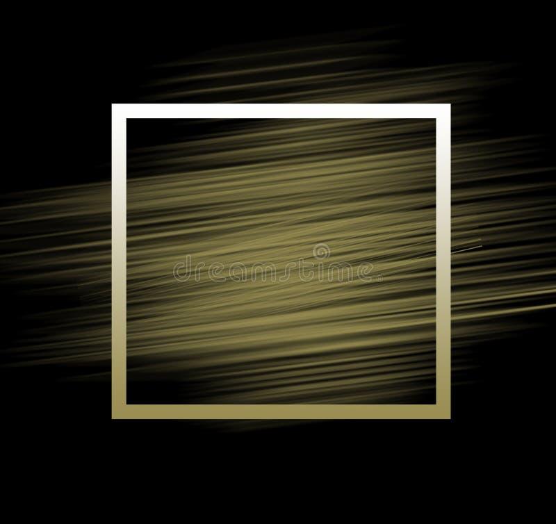 Svart guld- bakgrund stock illustrationer