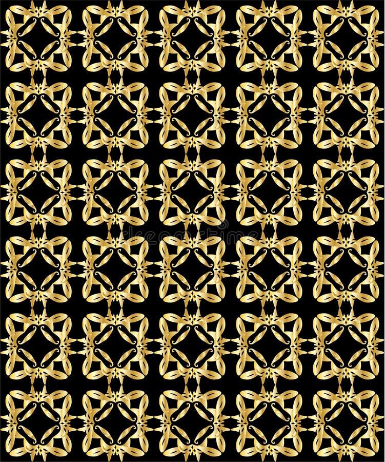 svart guldmodell för 2 bakgrund royaltyfri illustrationer