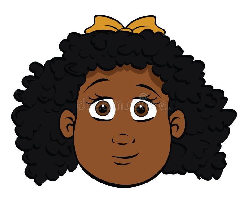 svart gullig flicka stock illustrationer