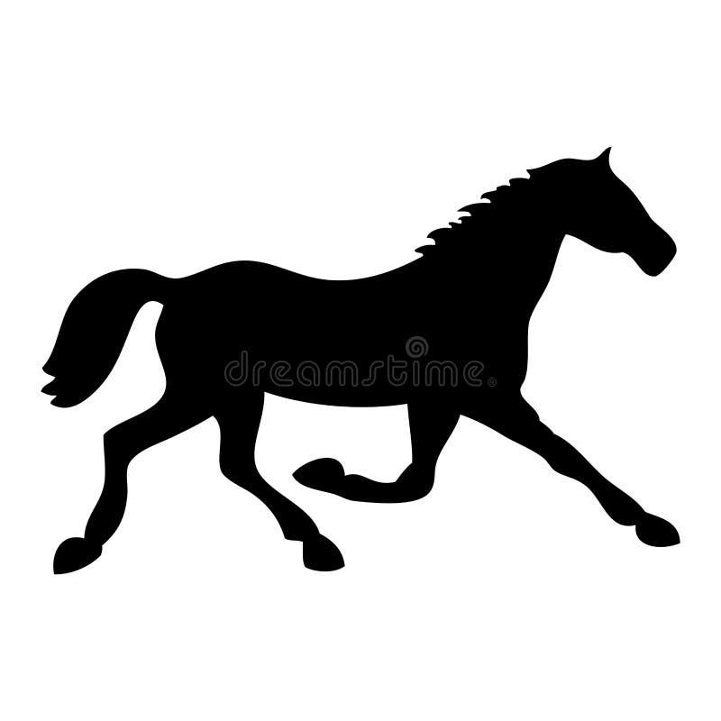svart häst vektor illustrationer