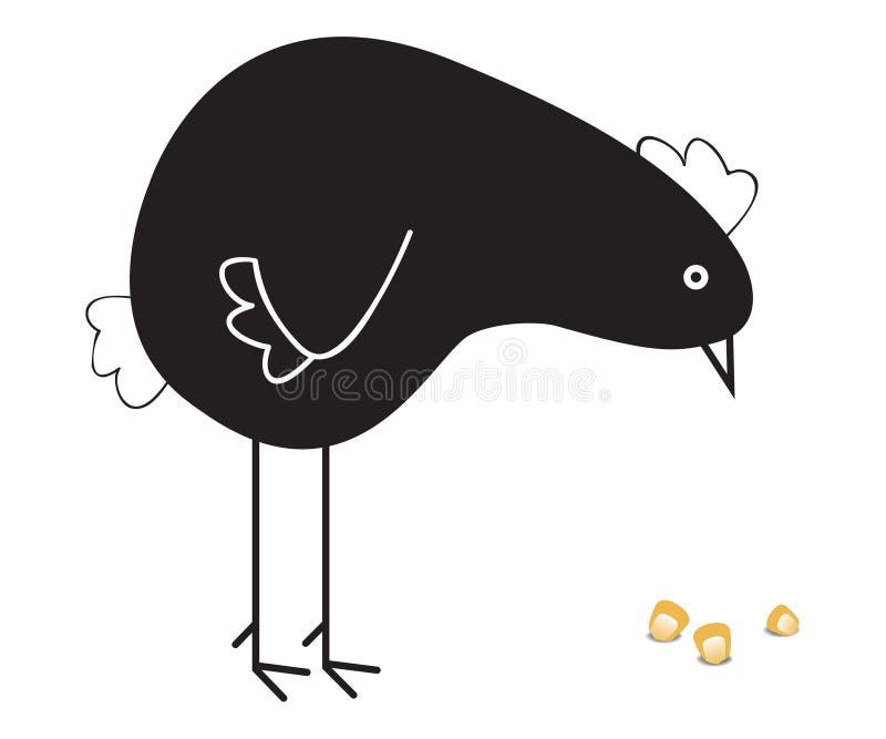 svart höna royaltyfri illustrationer