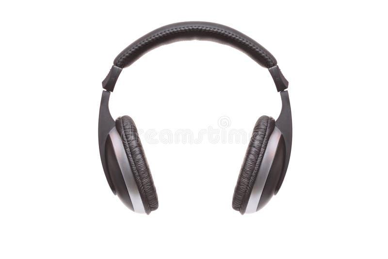 svart hörlurar arkivbild