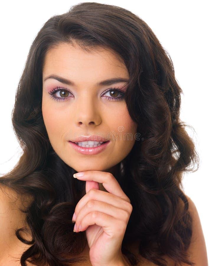 svart haired för skönhet arkivfoto