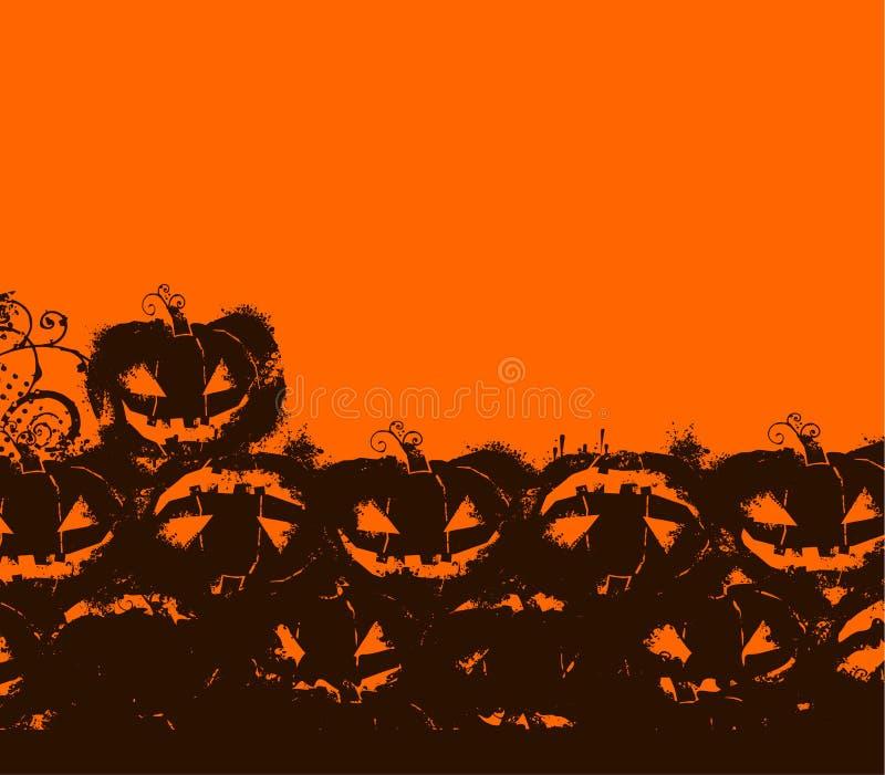 svart halloween orange vektor illustrationer