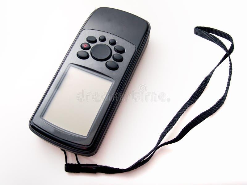 svart handheld isolerad white för gps royaltyfri fotografi