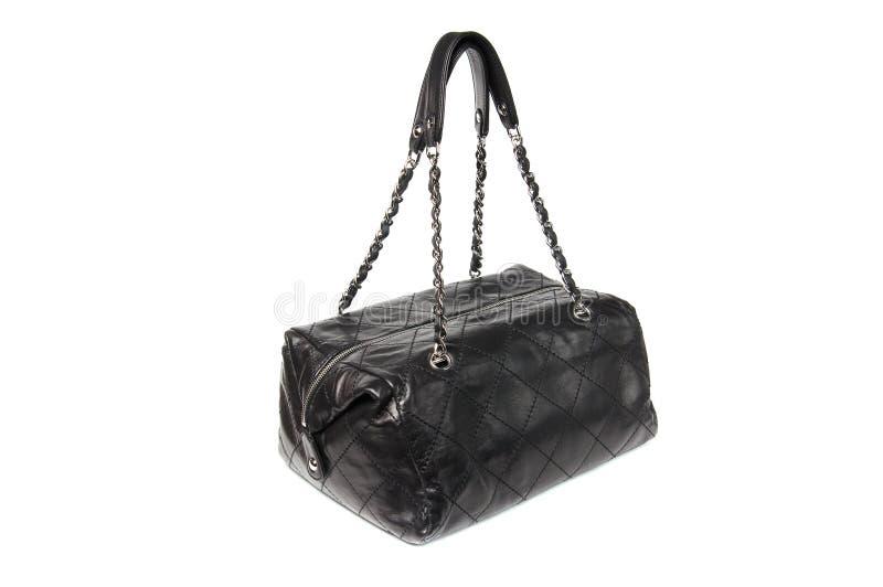 svart handväskaläder fotografering för bildbyråer