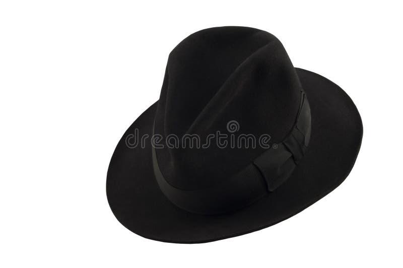 Svart hatt för man` s arkivbild