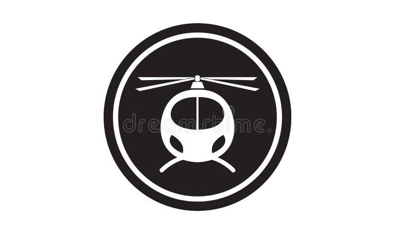 Svart helikoptersymbol vektor illustrationer