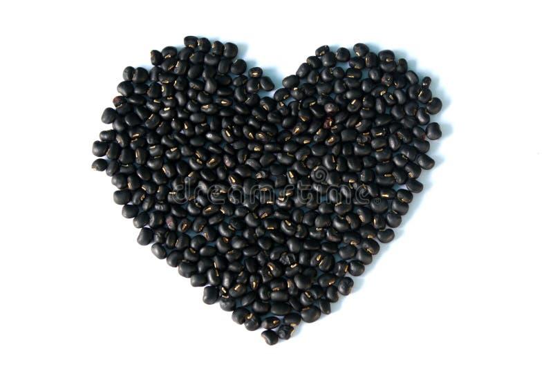 svart hjärta royaltyfri foto