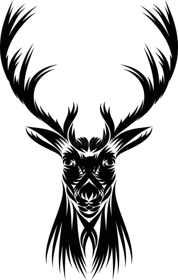 Svart hjortar royaltyfri illustrationer