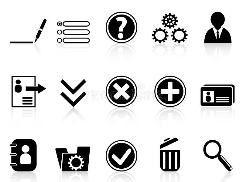 Svart internet redogör inställningssymbolen royaltyfri illustrationer