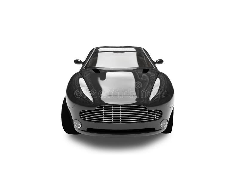 svart isolerad sikt för bil framdel vektor illustrationer
