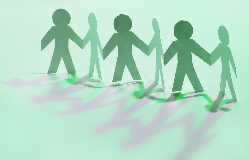 svart isolerad teamwork för begrepp 3d illustration stå för män för lag pappers- arkivfoto