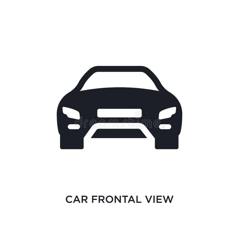 svart isolerad vektorsymbol för bil frontal sikt enkel best?ndsdelillustration fr?n symboler f?r transport-aytanbegreppsvektor bi royaltyfri illustrationer