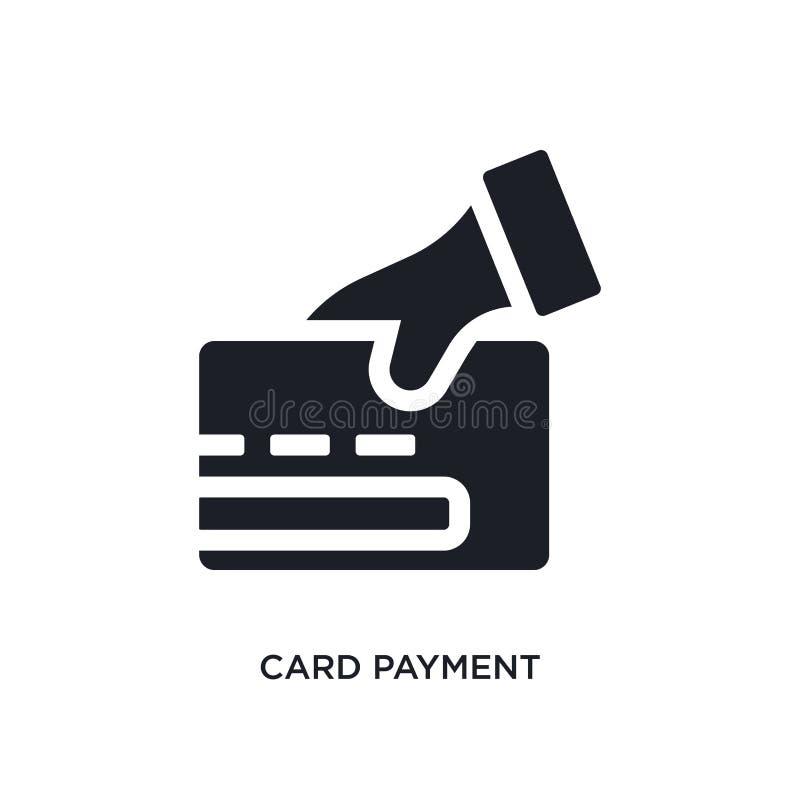 svart isolerad vektorsymbol för kort betalning enkel beståndsdelillustration från symboler för e-kommers och betalningbegreppsvek royaltyfri illustrationer