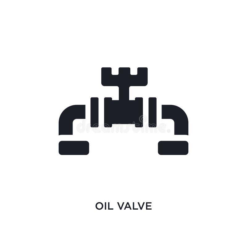 svart isolerad vektorsymbol för olja ventil enkel best?ndsdelillustration fr?n symboler f?r branschbegreppsvektor redigerbar logo stock illustrationer