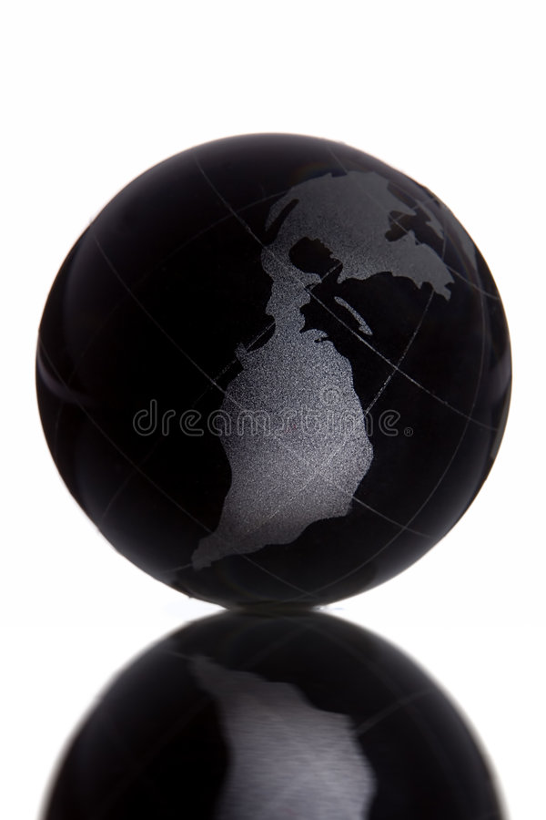 svart jordklot arkivfoto