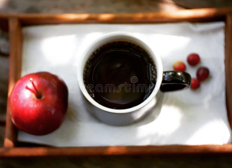 svart kaffe royaltyfria bilder
