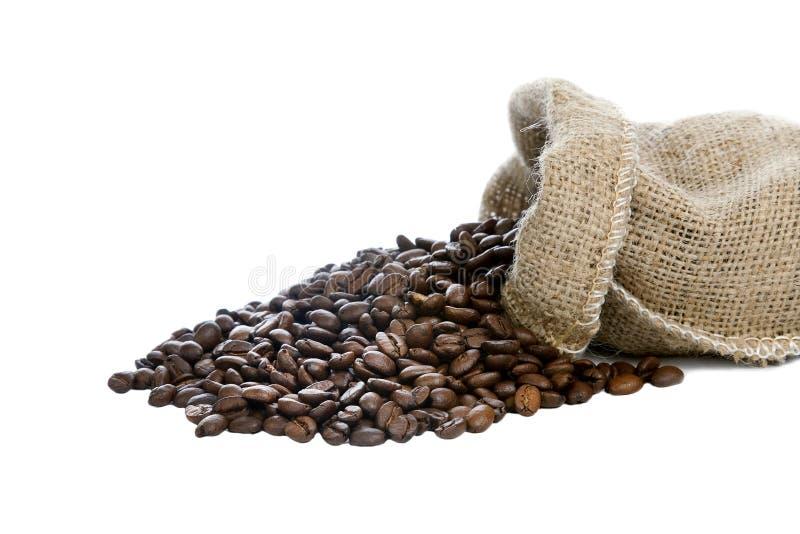 svart kaffe för bönor royaltyfria foton
