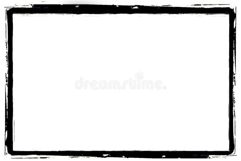 svart kantgrunge stock illustrationer