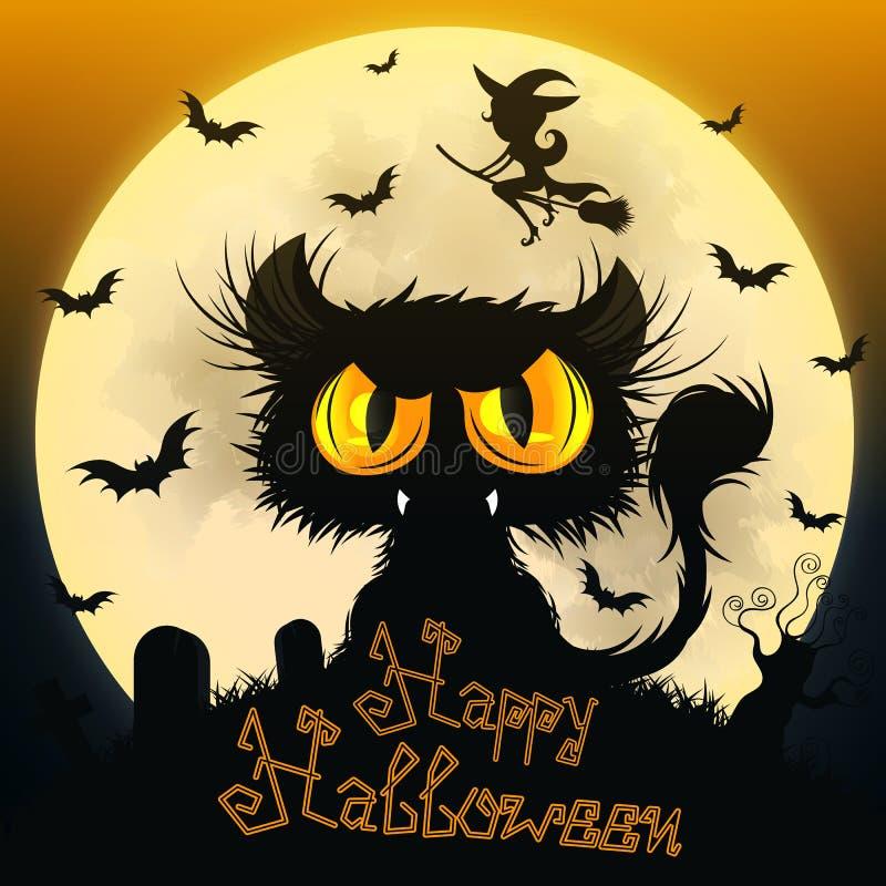 svart katt halloween royaltyfri foto