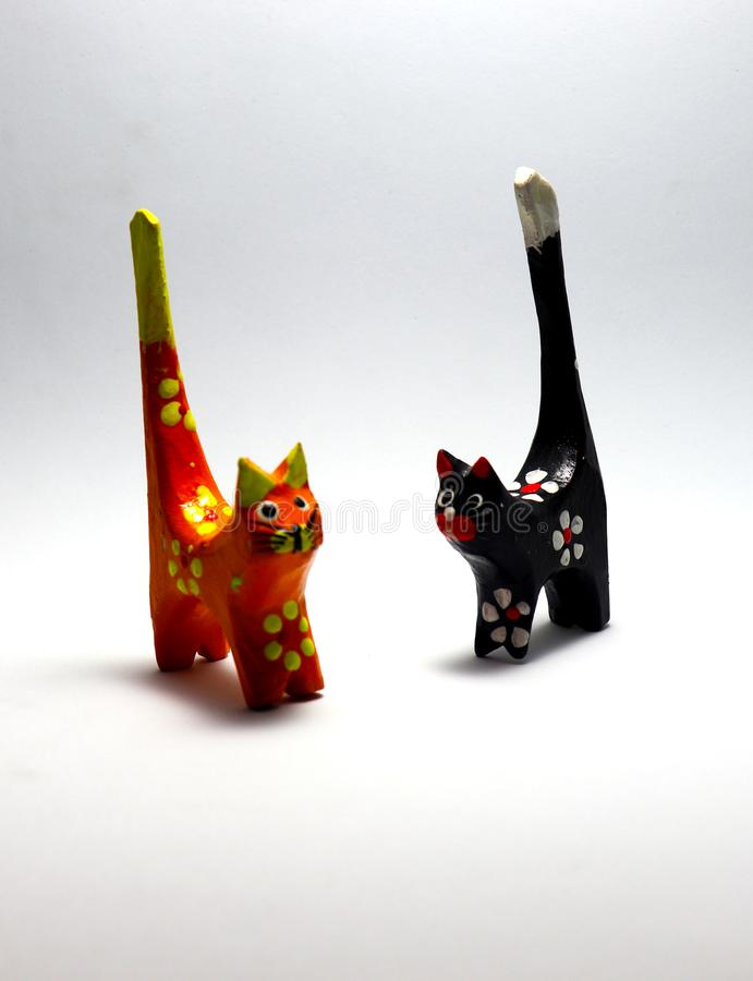svart kattorange arkivfoto