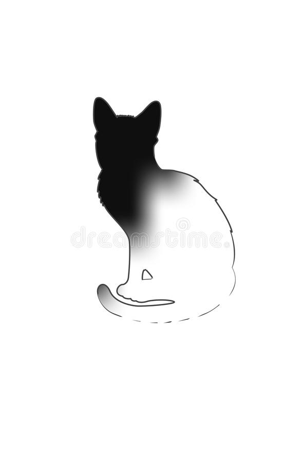 svart kattsilhouette royaltyfria foton