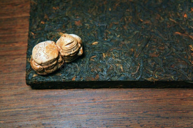 Svart kinesiskt te inget keramiskt diagram arkivbilder