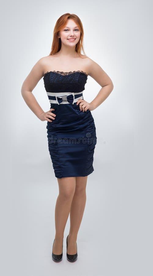 svart klänningkvinnabarn royaltyfria foton