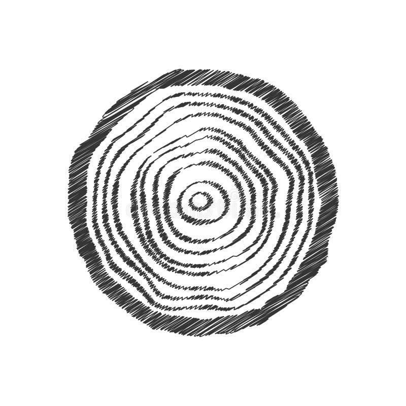 Svart klottrar trädcirkeln vektor illustrationer