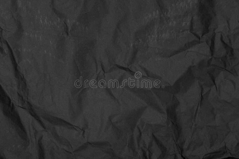 Svart knövlad pappers- texturbakgrund royaltyfri fotografi