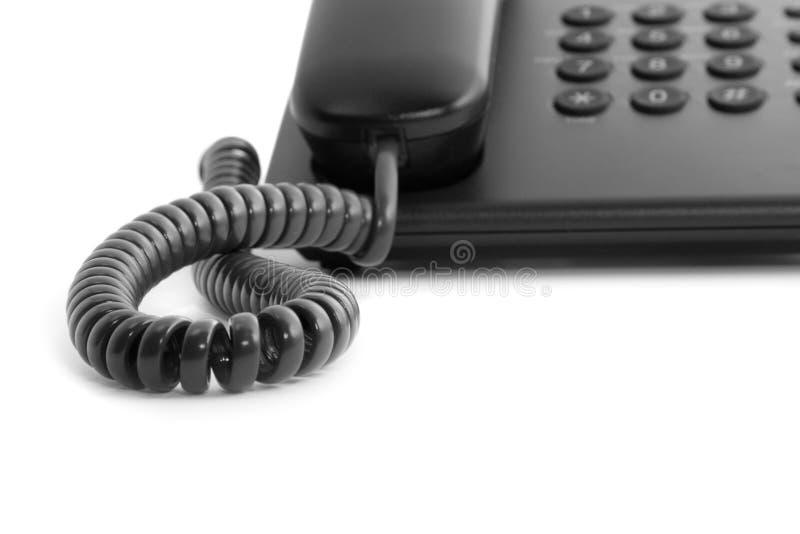 svart kontorstelefon arkivfoton