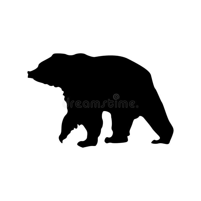 Svart kontur för björn royaltyfri illustrationer