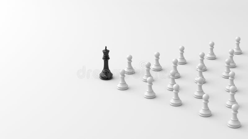 Svart konung av schack vektor illustrationer