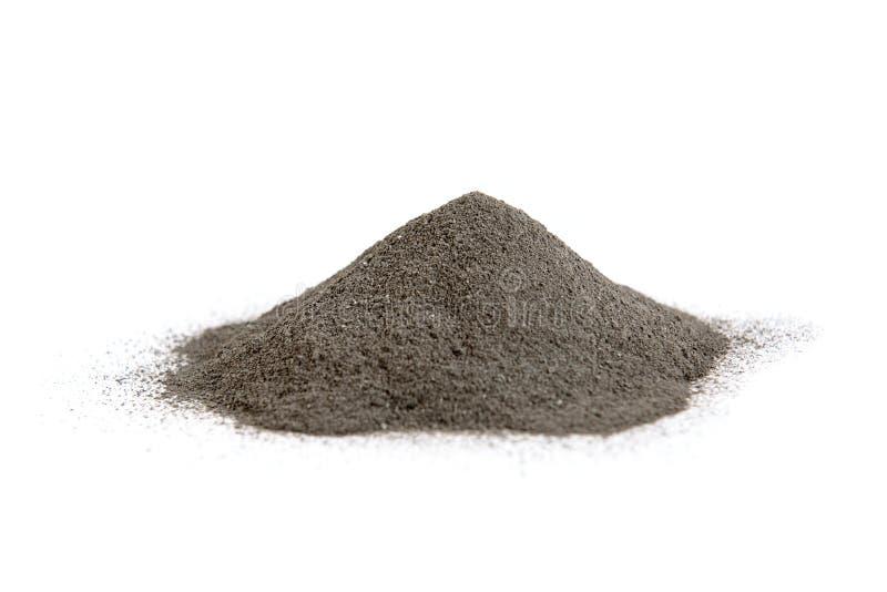 Svart kosmetisk lera som isoleras på vit bakgrund Skincare arkivfoton