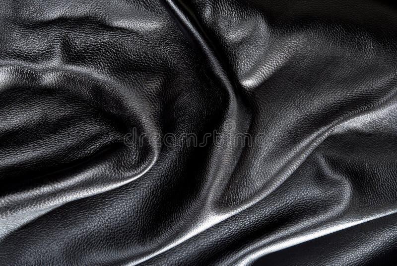 svart läder