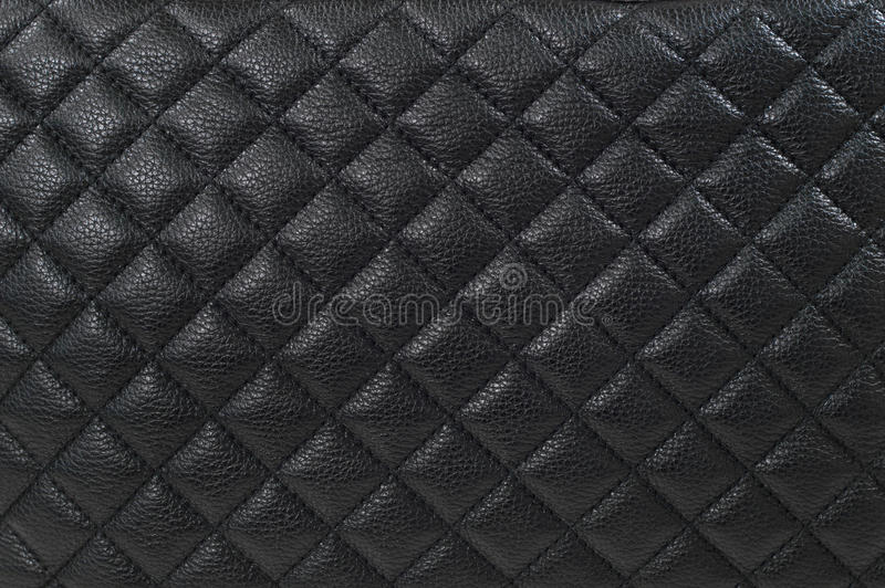 Svart läderbakgrund/textur royaltyfria foton