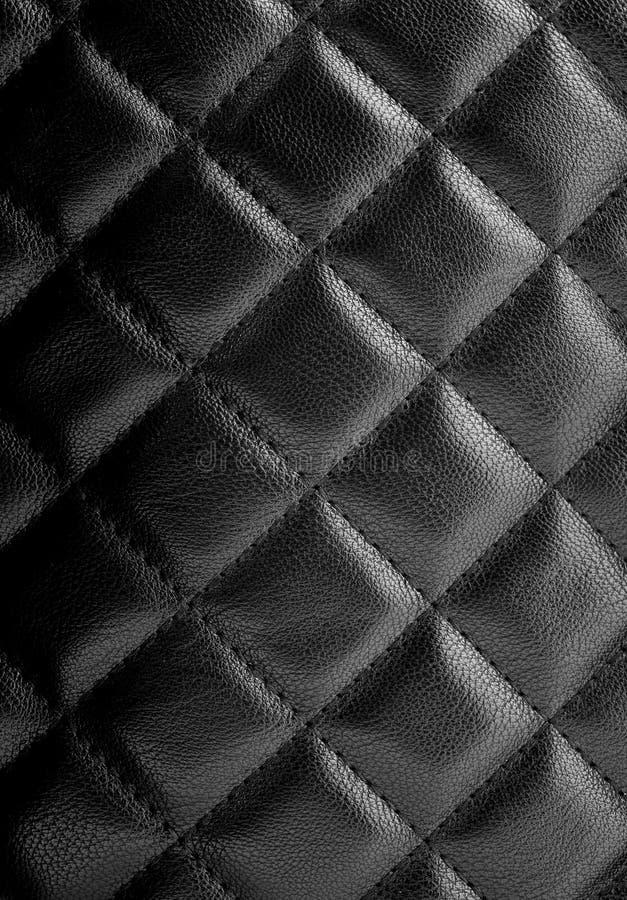 Svart lädertextur royaltyfria foton