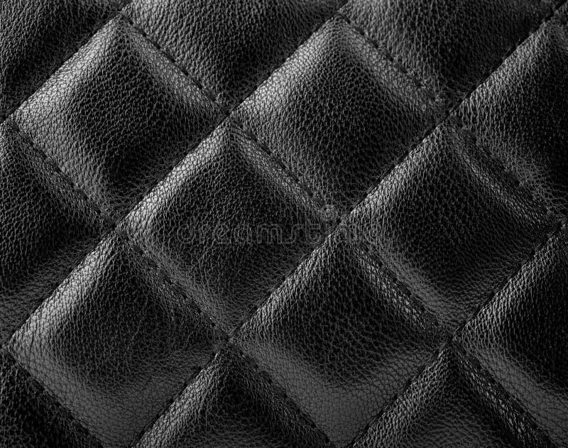 Svart lädertextur arkivfoton