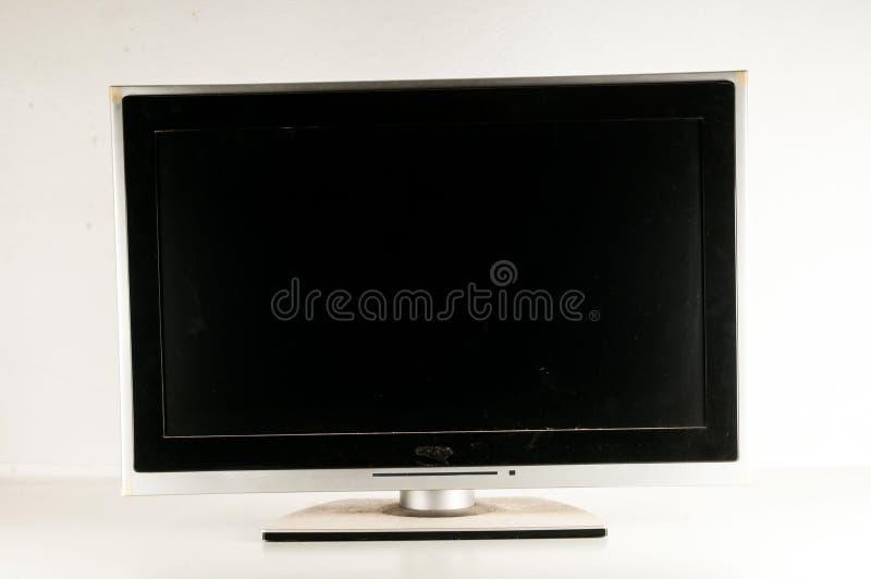 Svart LCD-TVskärm arkivfoton