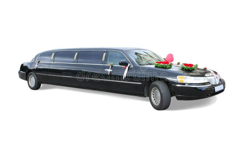 svart limousine arkivfoto