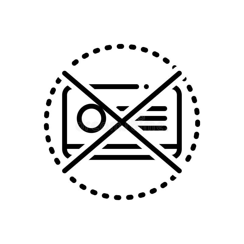 Svart linje symbol för Expired, gradbeteckning och varning royaltyfri illustrationer