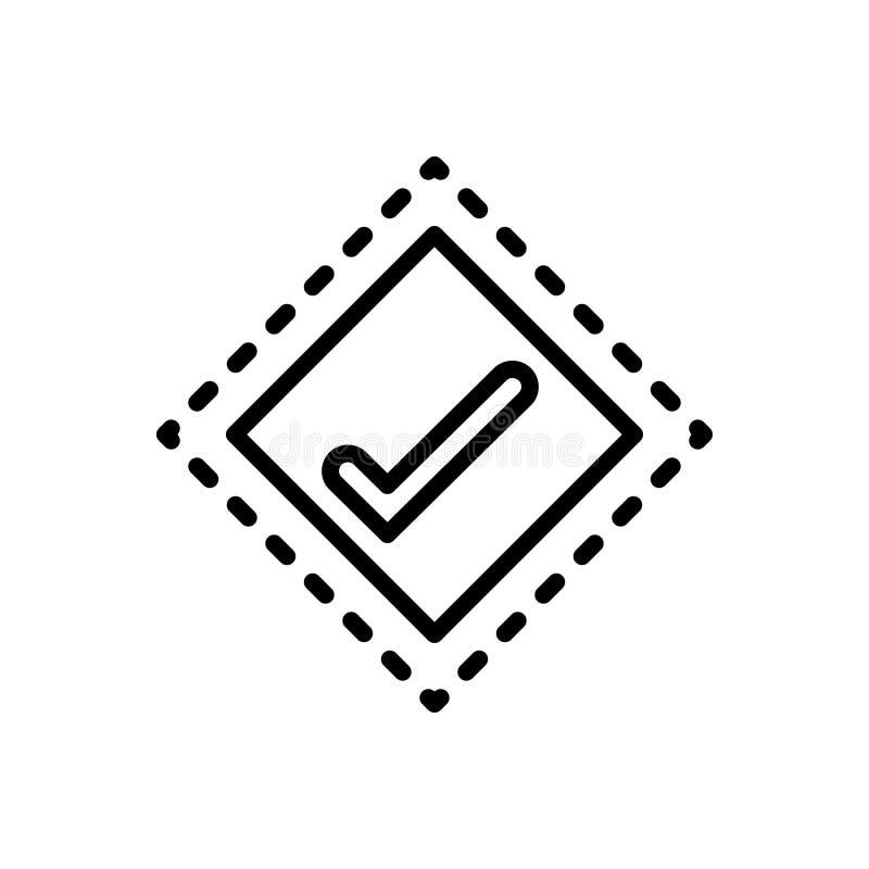 Svart linje symbol för fläck, slinga och hack vektor illustrationer