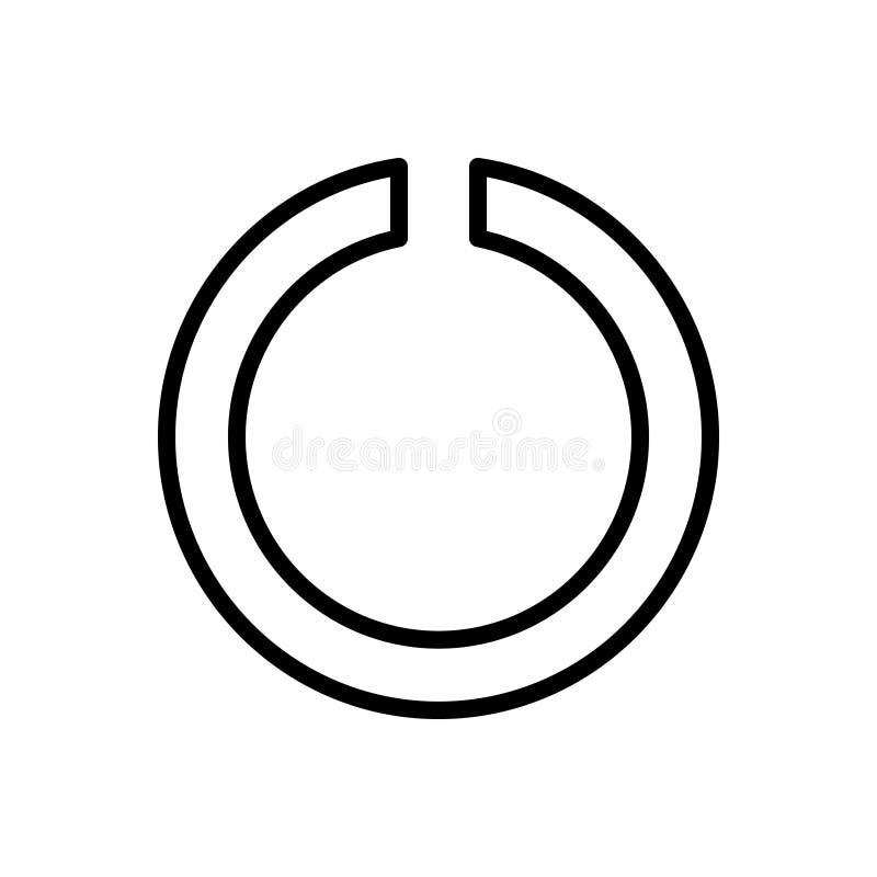 Svart linje symbol för hack, logo och app royaltyfri illustrationer
