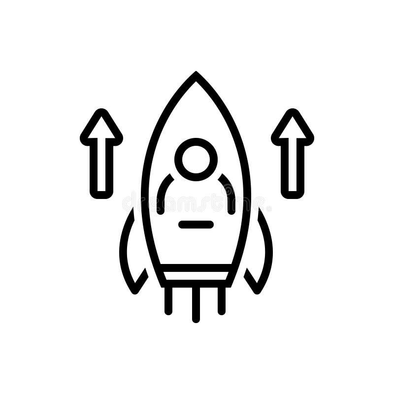 Svart linje symbol för kapaciteter, erfarenhet och sakkunskap vektor illustrationer