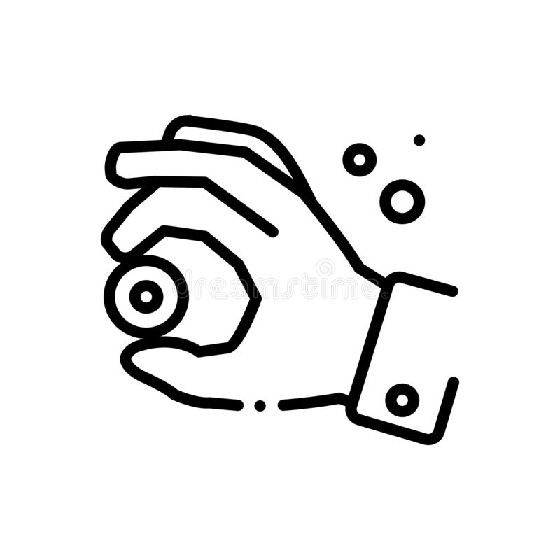 Svart linje symbol för nyans, minderårig och skillnad stock illustrationer