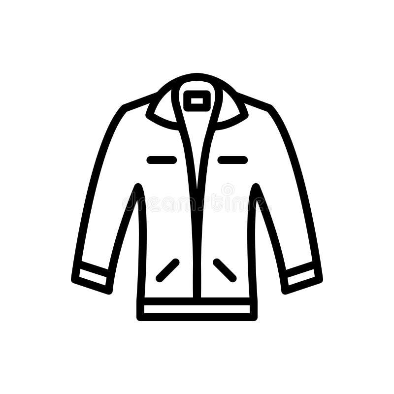 Svart linje symbol för omslag, beläggning och innegrej stock illustrationer