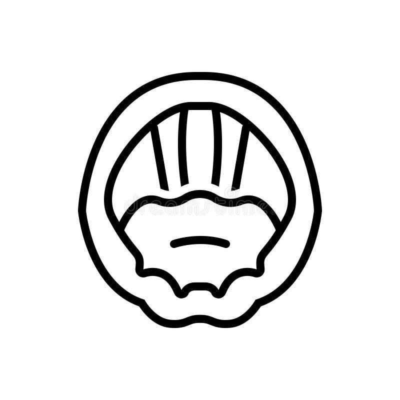Svart linje symbol för röst- kablar, laryngeal och hals vektor illustrationer