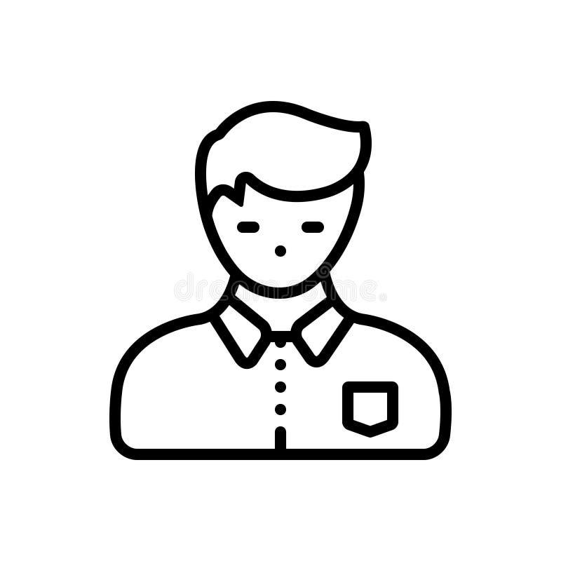 Svart linje symbol för tonårstid, tonåring och vuxen människa stock illustrationer